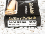 Sellier & Bellot - Soft Point Cutting Edge(SPCE) - 150 Grain 30-06 Ammo - 20 Rounds