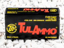 Image of Tula Cartridge Works Full Metal Jacket (FMJ) 115 Grain 9mm Luger (9x19)  Ammo - 1000 Rounds