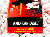 Image of 9mm - 124 Grain FMJ - Federal American Eagle - 50 Rounds