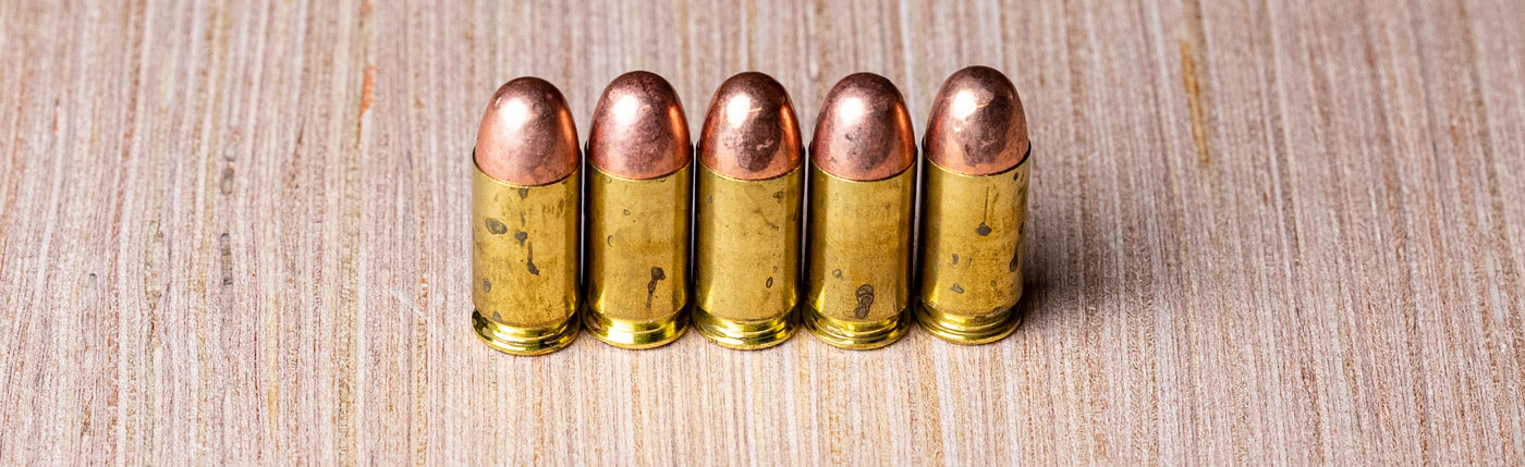 FMJ bullets in 9mm ammo