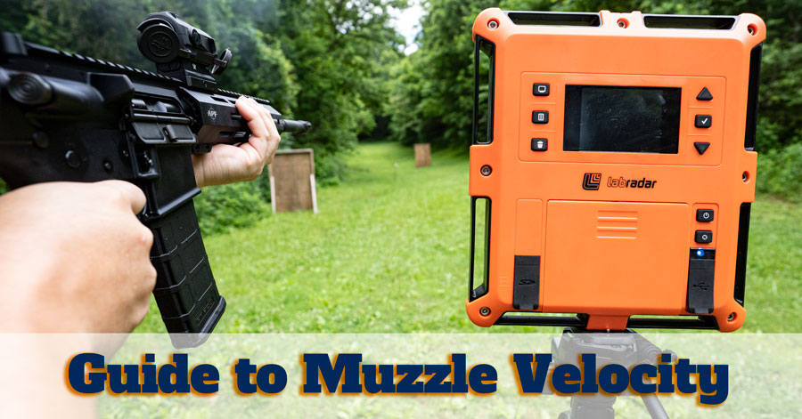 Guide to muzzle velocity with rifle at shooting range